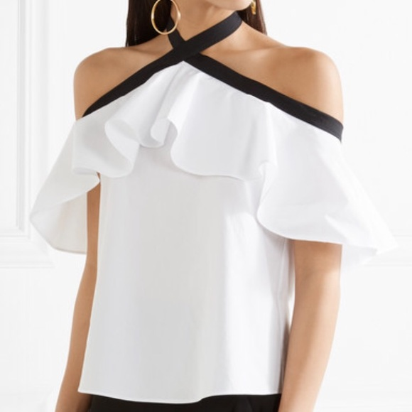5b4edd15ec9f92 Alice + Olivia Tops | Nwt Alice Olivia Alyssa Off Shoulder Halter ...